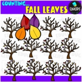 Counting Fall Leaves Clip Art Bundle  {Educlips Clipart}