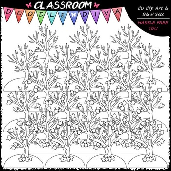 (0-20) Counting Fall Leaves Clip Art - Counting & Math Clip Art & B&W Set