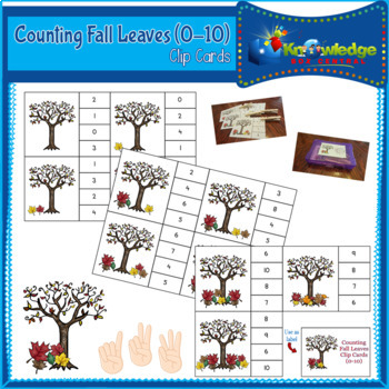 Counting Fall Leaves Clip Cards (0-10)