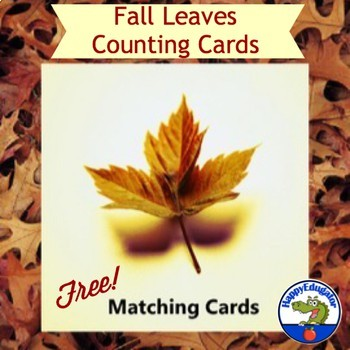 Fall Counting Practice Cards FREE