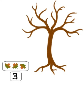 Interactive Counting Fall Leaves Smart Notebook