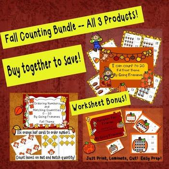 Counting Fall Theme Bundle