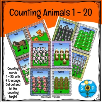 Counting Farm Animals 1 through 20