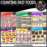 Counting Fast Foods Clipart Big Bundle {Educlips Clipart}