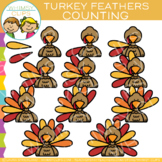 Counting Feathers on a Turkey Clip Art