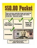 Counting Fifty Dollar Bills Money Math Packet