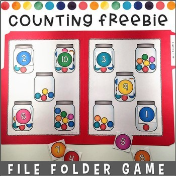 Counting File Folder Game Free