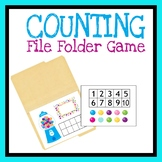 Counting File Folder Game, Quiet Book Activity, Numbers Pr