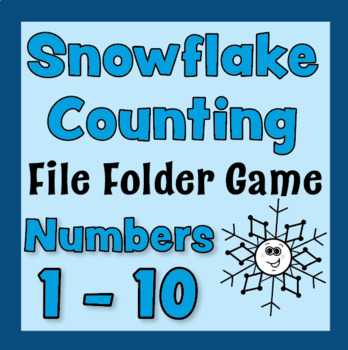 Number Recognition- Counting FILE FOLDER GAME,Snowflake 1-10, Winter & Christmas