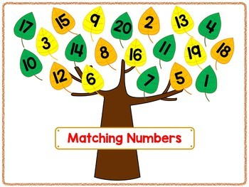 Coins and Numbers File Folder Games FALL THEME