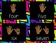 Counting Finger Flashcards {Eureka Math, black & bright}