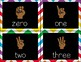 Counting Finger Flashcards {Eureka Math, rainbow chevron}