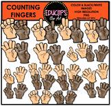 Counting Fingers Clip Art Bundle  {Educlips Clipart}