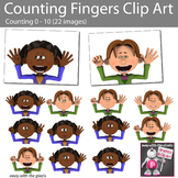 Counting Fingers Clip Art - Counting Numbers 0 - 10, 22 Color Images