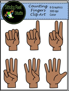 Counting Fingers Clip Art Freebie
