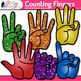 Counting Fingers Clip Art {Teach Counting to 10, Hand Signals for the Classroom}