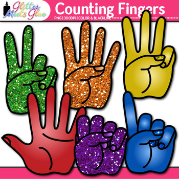 Counting Fingers Clip Art   Teach Counting to 10, Hand Signals for the Classroom