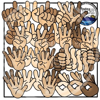Counting Fingers and Thumbs Clipart Bundle