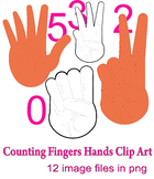 Counting Fingers Hands Clip Art