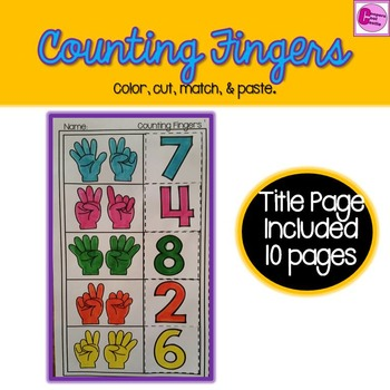 Counting Fingers Math Activity To Ten