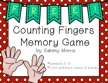 Counting Fingers Memory Game (Math Center)