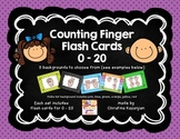 Counting Fingers - flash cards 0 - 20