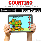 Counting Fire Safety BOOM CARDS™ | Digital NO-PREP | Dista