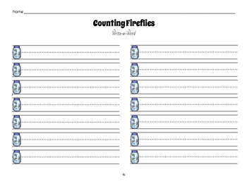 Counting Fireflies: A Sight Word Game {Mel's Digital Store}