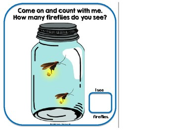 Counting Fireflies Adapted Book-- SPED, Autism, Early Childhood
