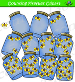 Counting Fireflies Clipart