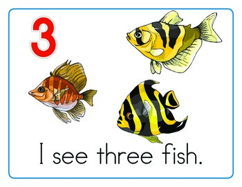Counting Fish 0 to 20 - Emergent Reader