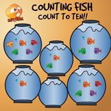 Counting Fish Clip Art - Count 0-10 Clip Art