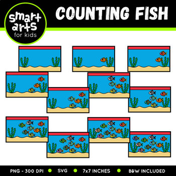 Counting Fish Clip Art