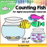 Counting Fish Clip Art | for both Printable and Movable