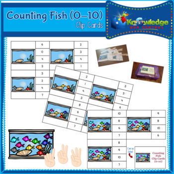 Counting Fish Clip Cards (0-10)