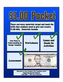 Counting Five Dollar Bills Money Math Packet