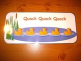 Counting Five Little Ducks Printable Singing Game. Autism Aspergers ABA Resource