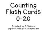 Counting Flash Cards 0-20