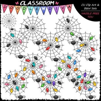 (0-10) Counting Flies Clip Art - Counting & Math Clip Art & B&W Set