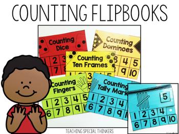 Counting Flipbooks: Numbers 1-10 (5 Flipbooks Included)