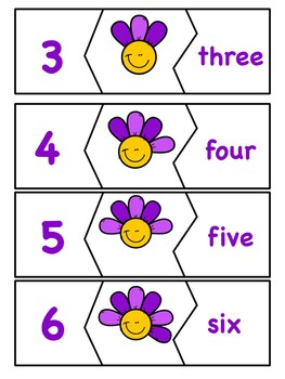 Counting Flower Petals - Spring Numbers and Number Words 0-10
