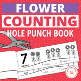 Flowers Hole Punch Activity Counting Books | Spring Fine Motor & Math Activities