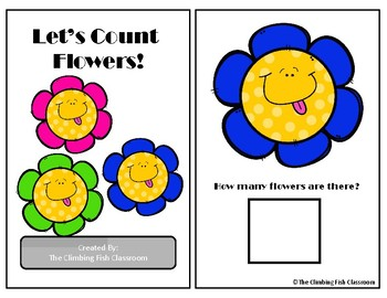 Counting Flowers Adapted Book