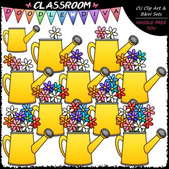 (0-10) Counting Flowers Clip Art - Sequence, Counting & Math Clip Art & B&W Set