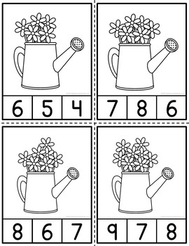 Counting Flowers Clip Cards and Reader