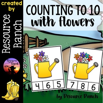 Counting Flowers Clip Cards and Reader 1-10