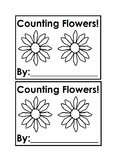 Counting Flowers Emergent Reader Book in Black&white for Preschool &Kindergarten