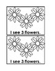 Counting Flowers Emergent Reader Book in Black&white for P