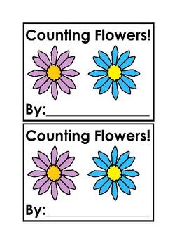 Counting Flowers Emergent Reader Book in color for Preschool & Kindergarten