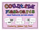 Counting Fluency Flashcards- Visual Flashcards and Data Sheets